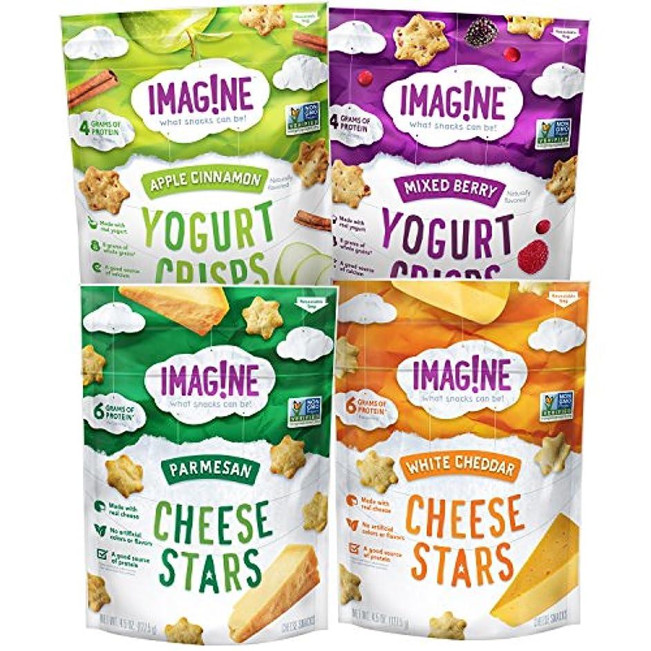 Imag!ne Cheese Stars and Yogurt Crisps Sampler Variety Pack, 4 Count