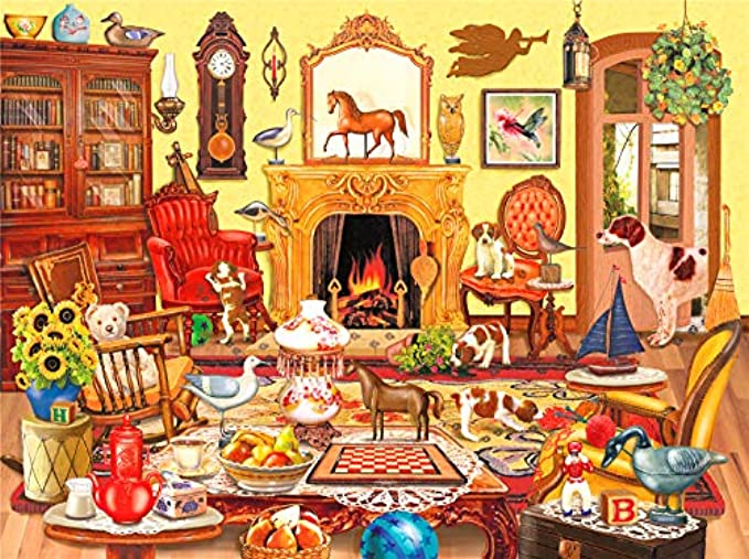 1000 Piece Jigsaw Puzzles for Adults & Kids –Livingroom Happy Time