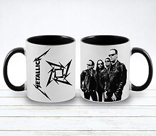 Metallica Band printed coffee mugs - Vista 11 oz Inner and handle color ceramic mugs