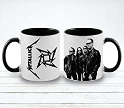 Metallica Band printed coffee mugs - Vista 11 oz Inner and handle color ceramic mugs