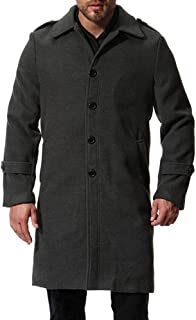 Men's Winter Men Slim Stylish Trench Coat Double Breasted Long Jacket Pea Coat