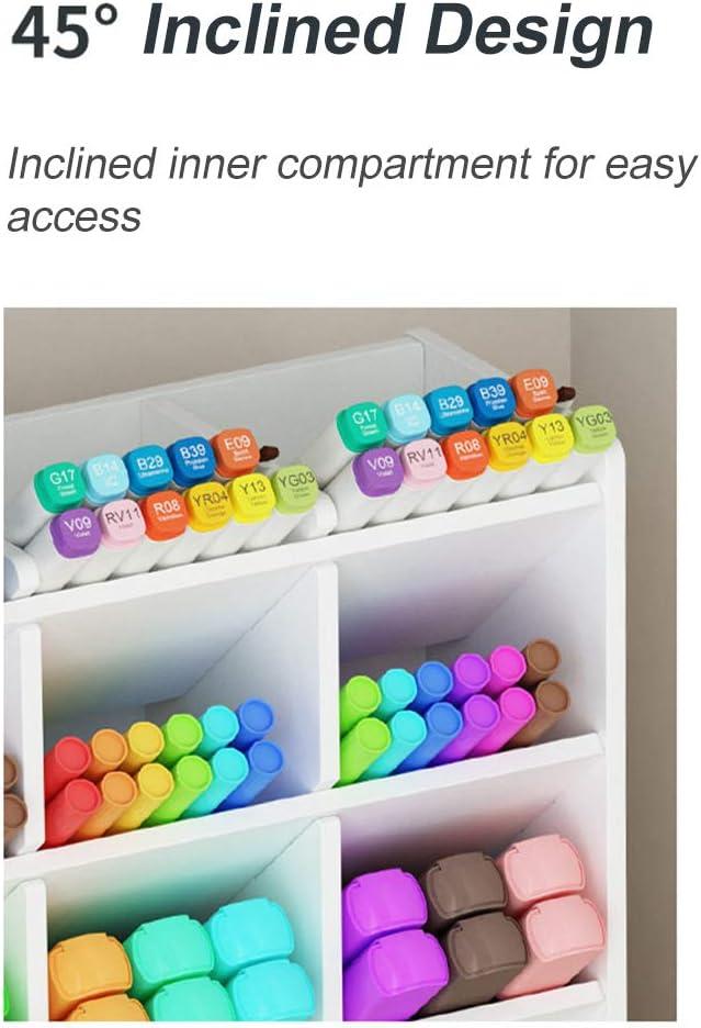 grande capacit/é de rangement pour stylos Blanc A fournitures de bureau pour bureau /école et maison Organisateur de bureau avec tiroir