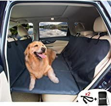 AMOCHIEN Seat Extender for Dogs - Backseat Bridge for Dogs, Pet Back Seat Covers Hammock, Pet Foam Extended Platform Ideal for Trucks, SUVs, and Full Sized Sedans Water Resistant Up to 100 lbs Black