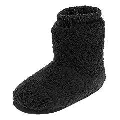 96daccc42b97 Women s Comfort Warm Faux Fleece Fuzzy Ankle Bootie Slippers .