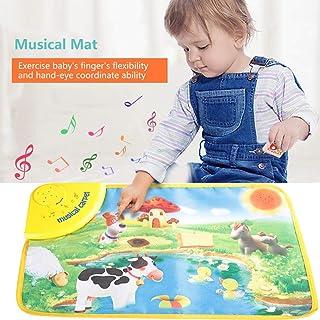 Musical Juguete Cisixin Alfombra Musical Infantil Bebé Granja Animal Musical Música Touch Juega Cantando Gimnasio Alfombra Mat Juguete de Regalo