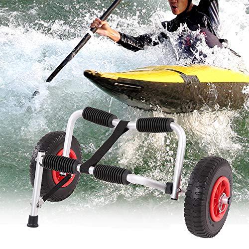 Carrito de kayak para bote plegable y ligero portátil Canoa Transportador de botes Dolly Tote Carrito de transporte Carrito de remolque Ruedas extraíbles para deportes acuáticos al aire libre