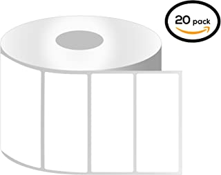OfficeSmart Labels ZT1300100-3 x 1 Inch Ribbon Required Thermal Transfer Labels, Compatible with Zebra Printers (20 Rolls,...