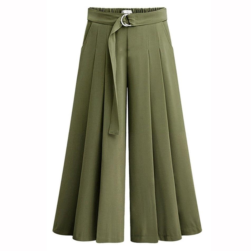 Plus Size Summer Women Pants Belted High Waist Speaker Wide Leg Straps Lotus Leaf Leggings Trousers