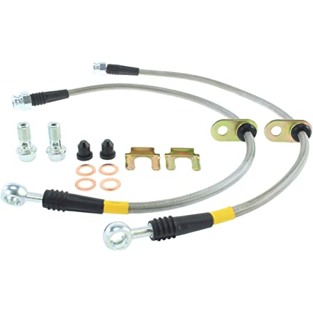 Blue Hose /& Stainless Banjos Pro Braking PBK9750-BLU-SIL Front//Rear Braided Brake Line