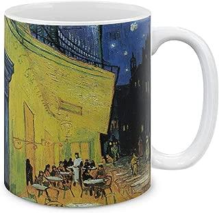 MUGBREW Classic Art Cafe Terrace At Night Van Gogh Ceramic Coffee Gift Mug Tea Cup, 11 OZ