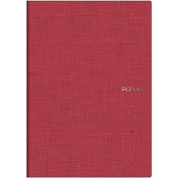 "Fabriano - EcoQua Staplebound Lined Notebook - Raspberry 38 Sheet Notebook - 8.25""x11.7"""