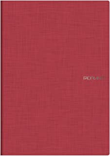 Fabriano A4 Squared Stapled Notebook - Rosso Red (Pack of 5)