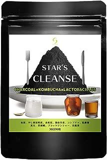 スターズクレンズ 炭ダイエット サプリ コンブチャ 乳酸菌 チャコール サプリメント 90粒30日分