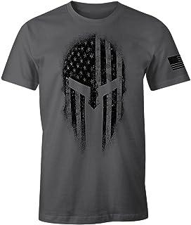 USA American Spartan Patriotic Men's T Shirt