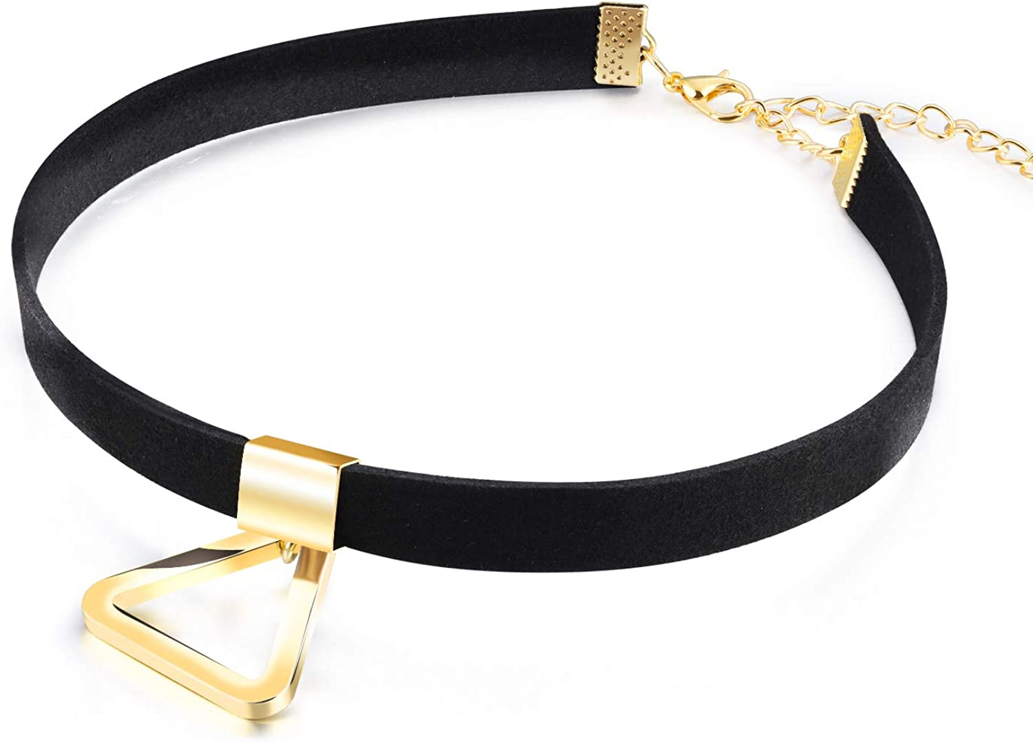 LQinuan Gold Pendants Black Flannel Choker Necklaces Jewelry for Women Girls Gifts Presents
