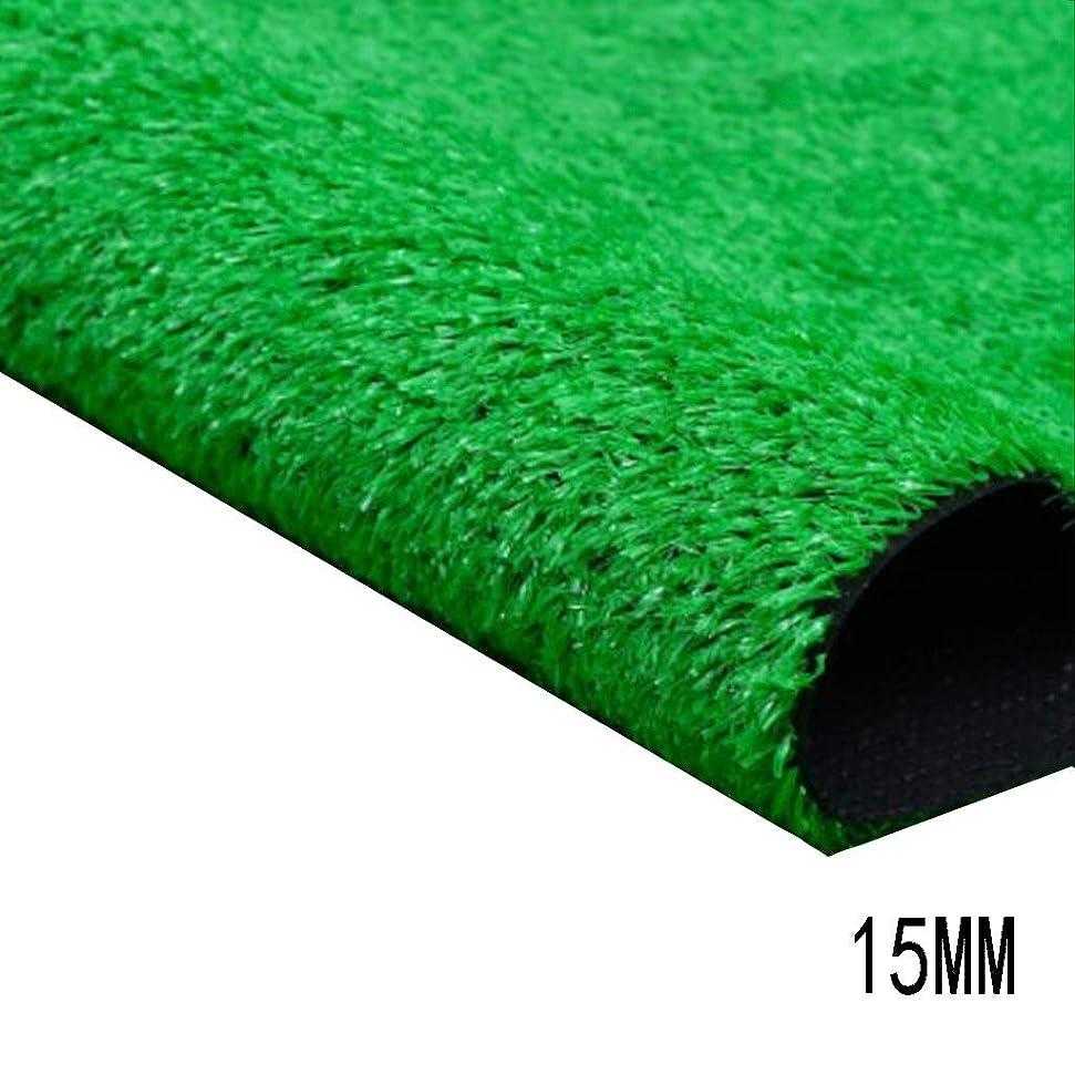 アライアンスシガレットアライアンスXEWNEG 暗号化人工芝、高さ15 MM、多機能グリーン合成カーペットマット、清掃が簡単、退色防止、滑り止め、屋内/屋外装飾 (Size : 2x15M)
