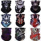Windproof Seamless Skull Face Mask Bandana for Riding...