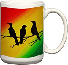 Three Little Birds Mug 15 oz Oversized Coffee Mug Coffee Mug Rasta Colors