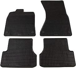 UnfadeMemory Alfombrillas para Coche 4 Piezas con Superficie Antideslizante para Audi A6/A7 (C7),a Medida Goma,Negro
