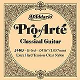 D'Addario Pro-Arte J4403 Troisième Corde seule en nylon pour guitare classique Très dur
