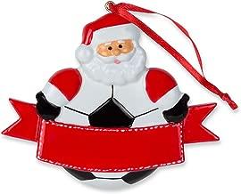 Soccer Santa Resin Christmas Ornament   Soccer Ornaments by ChalkTalk Sports