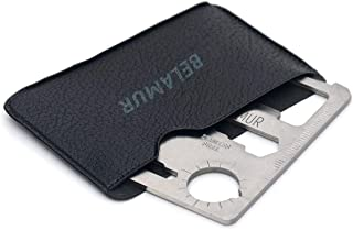 BELGRADE 11 Tools in 1 Stainless Steel Beer Opener Card Survival Multi Tool Gifts for Him Christmas (1 pack)