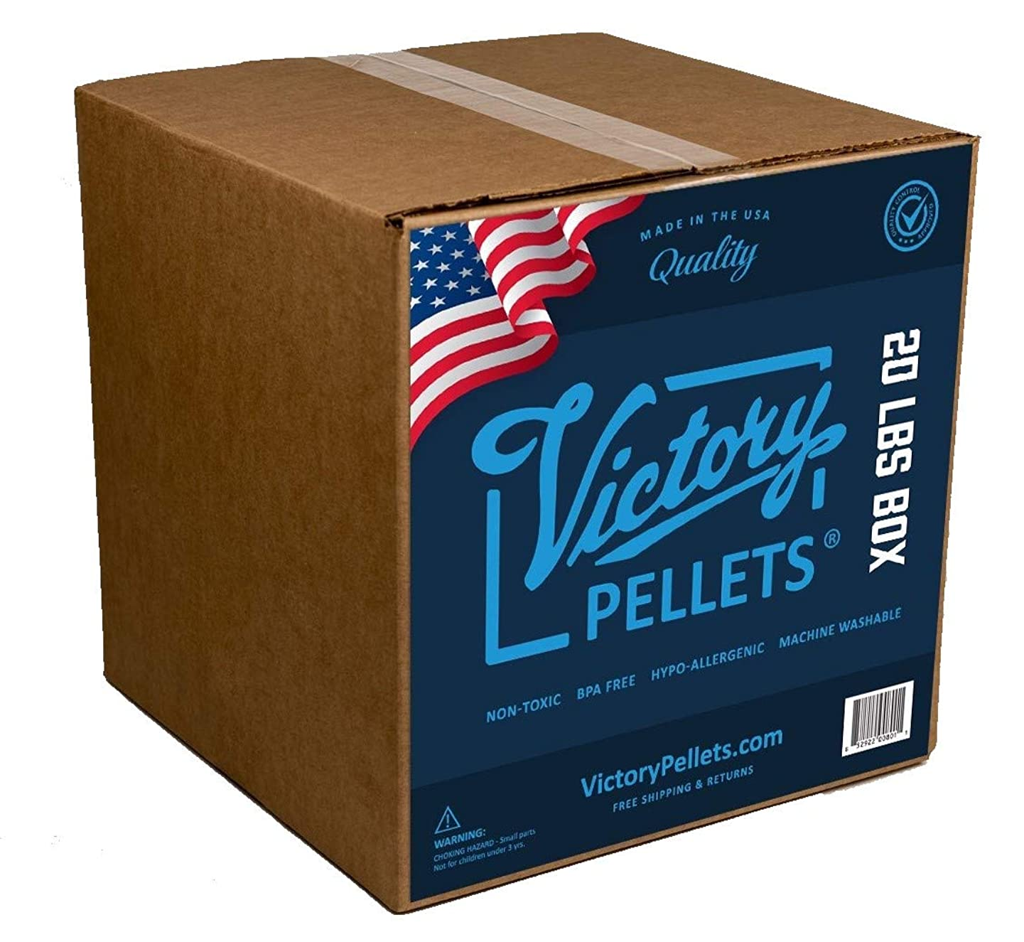 Victory Pellets (20 Pounds) Plastic Pellets for Weighted Blankets, Rock Tumbling, Reborn Dolls, Stuffed Bears, Crafts, Draft Stoppers, Game Changer Bags. Washer & Dryer Safe. Made in USA.