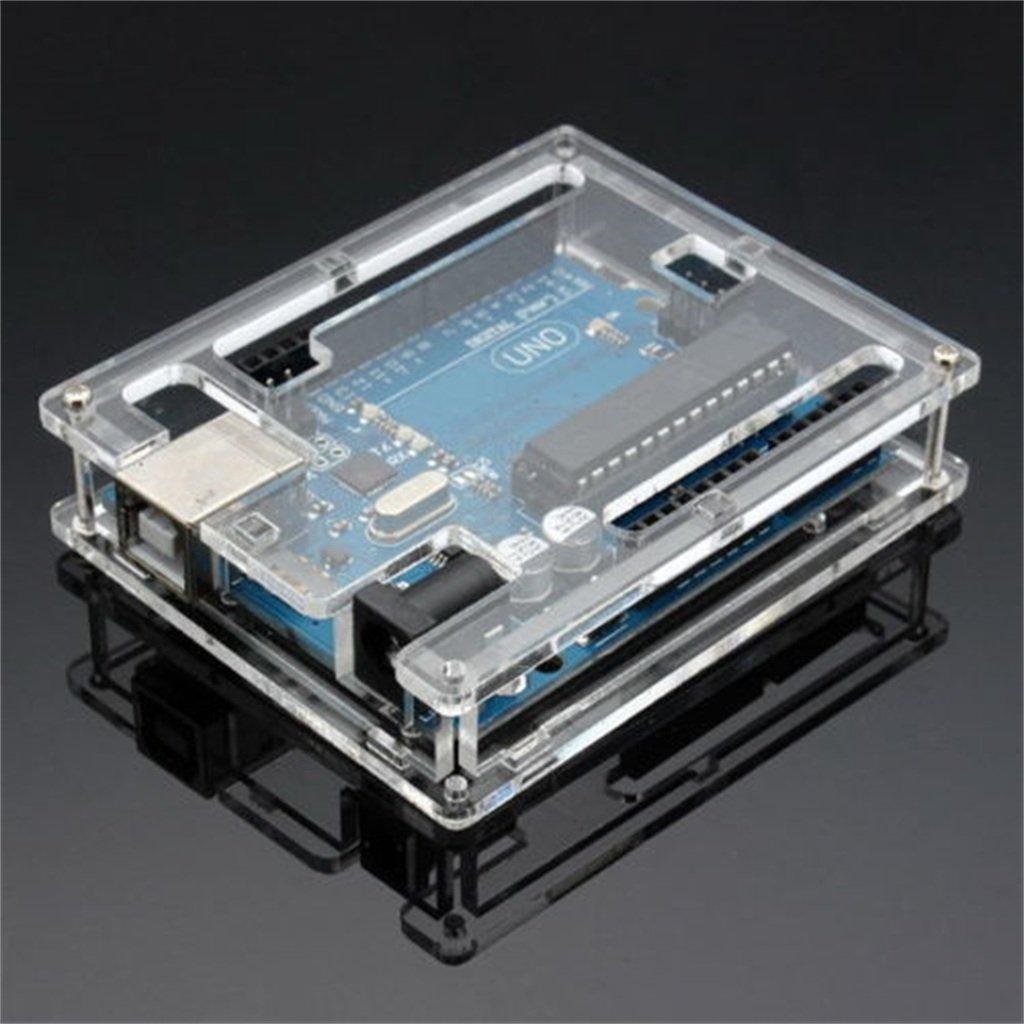 Winwill Caja de acrílico Transparente de la Caja para la Tarjeta del módulo de Arduino UNO R3: Amazon.es: Electrónica