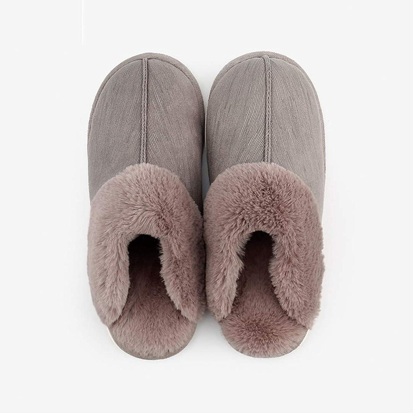 不測の事態枯渇ベールボアスリッパ レディース メンズ ルームシューズ 冬 コットン 室内 暖かい カップル 冬 滑り止め シンプル カジュアル ピンク グレー