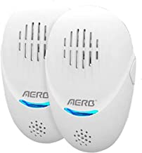 Aerb Ultrasonic Pest Repeller (2 Pack), Unique Dual-Sounder Electronic Indoor Plug in for Insects, Mice, Ant, Mosquito, Sp...