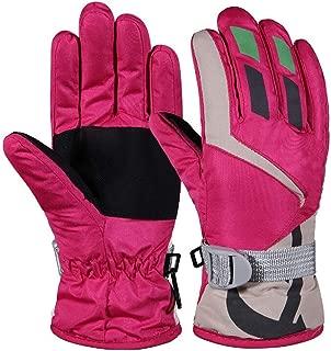 Kids Ski Gloves Winter Warm Lining Snow Cold Weather Windproof Waterproof Adjustable Gloves for Boys & Girls