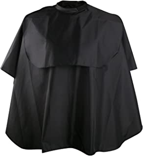 Hair Dye Cape, Segbeauty Professional Nylon Hair Cutting Cloak Hair Washing Cape, Black Comb-Out Makeup Artists Hair Dyeing Apron with Closure for Barber Hairdressing Hairstylist Hair Salon