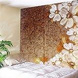 dianshangpuzi Tapisserie Erde Wandblume Wandkunst Hippie Mandala Böhmische Wandbehang Dekorationen Wandtuch Für Schlafzimmer Wohnzimmer Wohnheim Dekor 240X260Cm