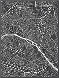 Poster 30 x 40 cm: Paris Frankreich Karte von Main Street
