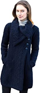 Merino Wool Chunky Knit Coat With Buttons