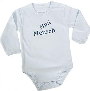 Barbara Shaw Gifts 'Mini Mensch' Baby Bodysuit (0-3 Months)
