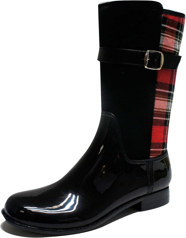GreenBox Official Women Casual Fashion Rain Boots Heel Boot