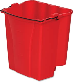 Rubbermaid Commercial Products Dirty Water Bucket for WaveBrake 2.0 35 Qt. Mop Bucket System, 18-Quart Capacity, Red, (2064907)