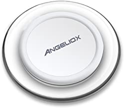 ANGELIOX Compatible with Wireless Charger Charging Pad iPhone Xs Max/XS/X/8/8 Plus,Samsung Note 9,S9,S9+,Note 8/5,S8+,S8,S7 Edge,LG G7 ThinQ/V30(White)