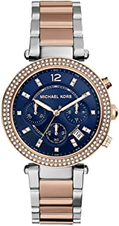 Michael Kors Parker Women's Navy Dial Stainless Steel Band Watch - MK6141