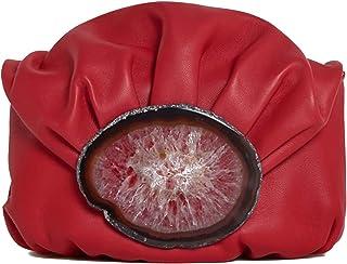 Malababa Bolso de Mano de Mujer Nanohontas Tipo Clutch en Color Rojo