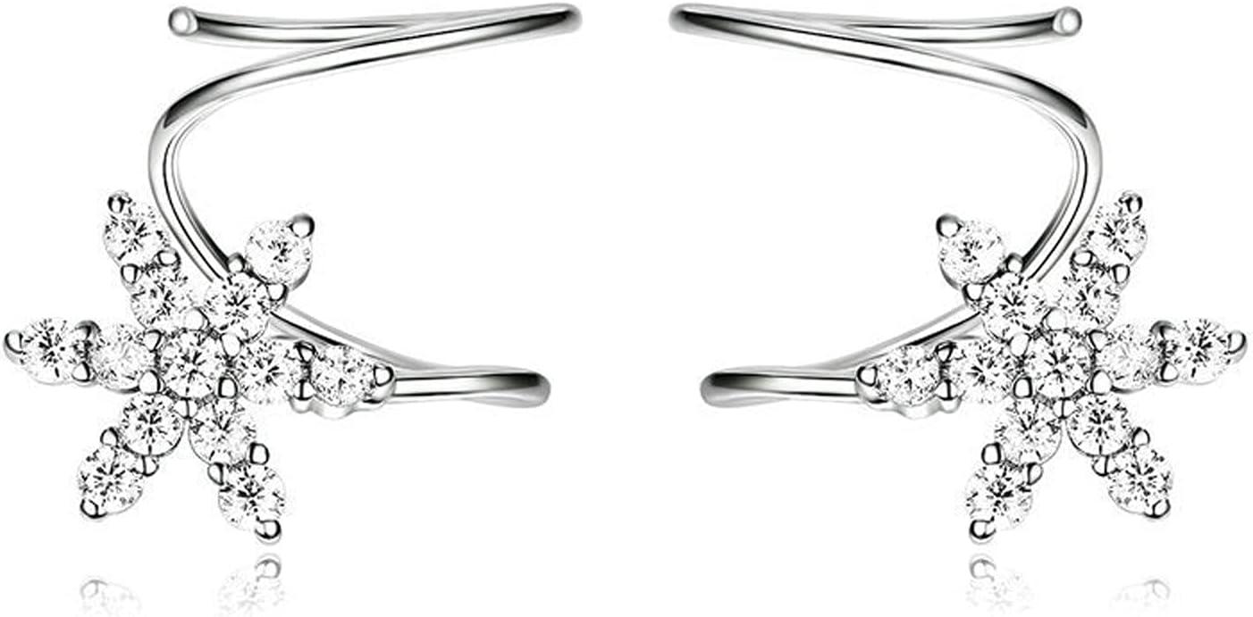 HMMJ Max 85% OFF Women's Earring Jackets Platinu Silver S925 4 years warranty Hypoallergenic