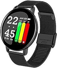 UIEMMY slim horloge Smart Horloge Mannen Bloeddruk Hartslag Fitness Tracker Armband Vrouwen Horloge Ronde Smartwatch voor ...