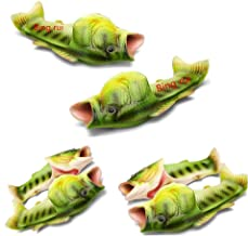 BING RUI CO 5 Colours Fish Slippers Beach Shoes Non-Slip Sandals Creative Fish Slippers Men and Women Casual Shoe (Light Green, Male(11.5-12.5))
