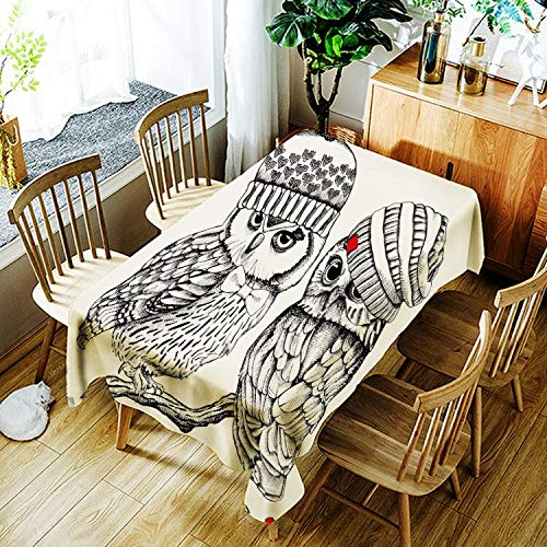 XXDD Mantel de Panda Enojado Creativo de Dibujos Animados Animal Gato patrón Mantel cómodo Impermeable Cubierta de Mantel A3 135x135cm