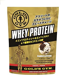 ゴールドジム(GOLD'S GYM) ホエイプロテイン クッキー&クリーム風味 1,500g