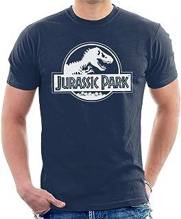Jurassic Park Classic Black & White Logo Men's T-Shirt