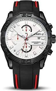 ميجير ساعة يد رجالية انالوج بعقارب ، سيليكون ،MN2055G-BK-7