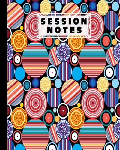 """Session Notes Log: A Logbook to Record Client Appointments, Psychotherapists and Clinicians With Circular Cover   120 Pages, Size 8"""" x 10"""" by Harri Hartwig"""
