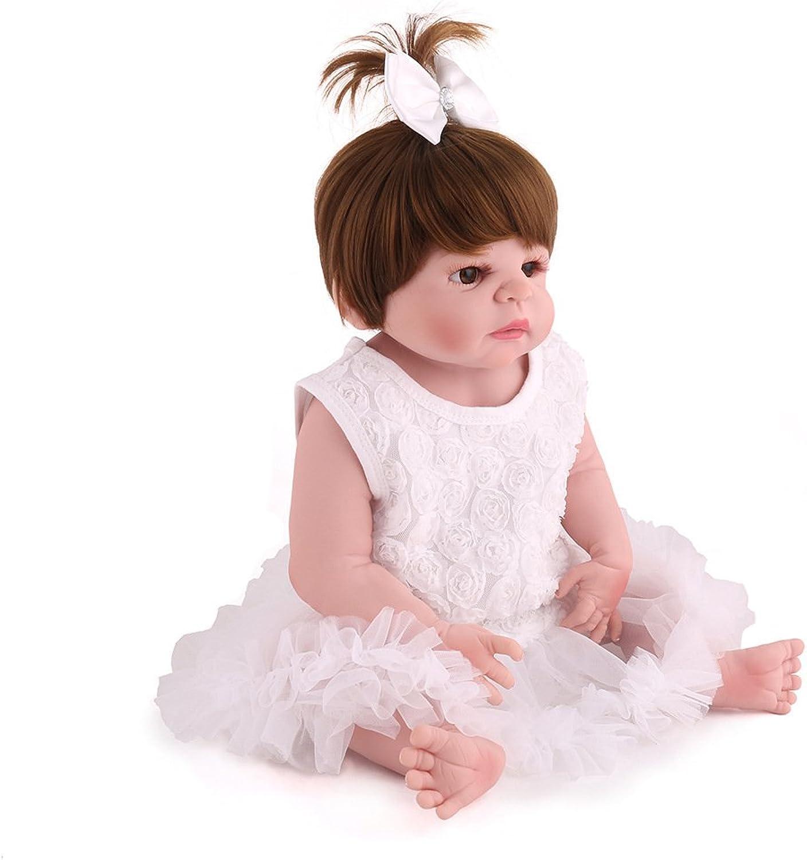 JHGFRT Simulation Reborn Baby Puppe Weiche Silikon Simulation Neugeborenen Baden Kinder Spielzeug Geburtstagsgeschenk 55 cm
